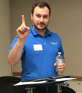 Jake preparing for another successful Regional Learning Event in St. Louis, MO