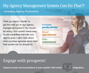 My Agency Management System Can Do That